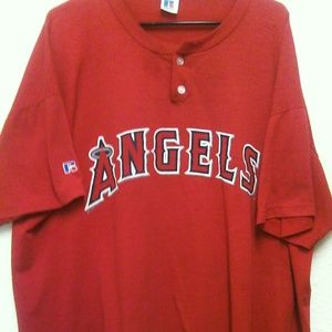 MLB California Angels Men's 2XL Button Shirt